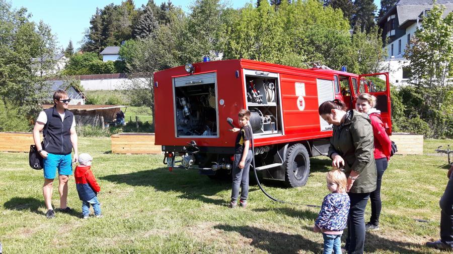 Wasser marsch - die Feuerwehr hilft
