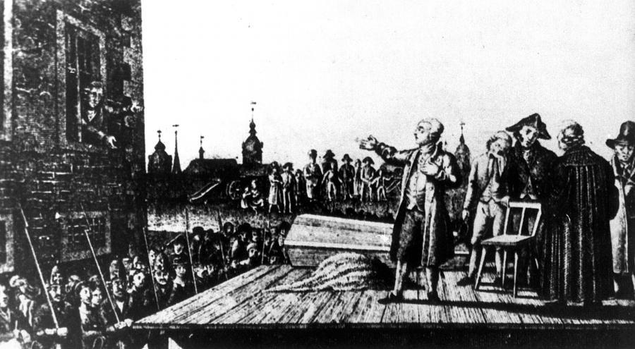 Hans Hermann von Katte bittet um Verezeihung beim Kronprinz Friedrich