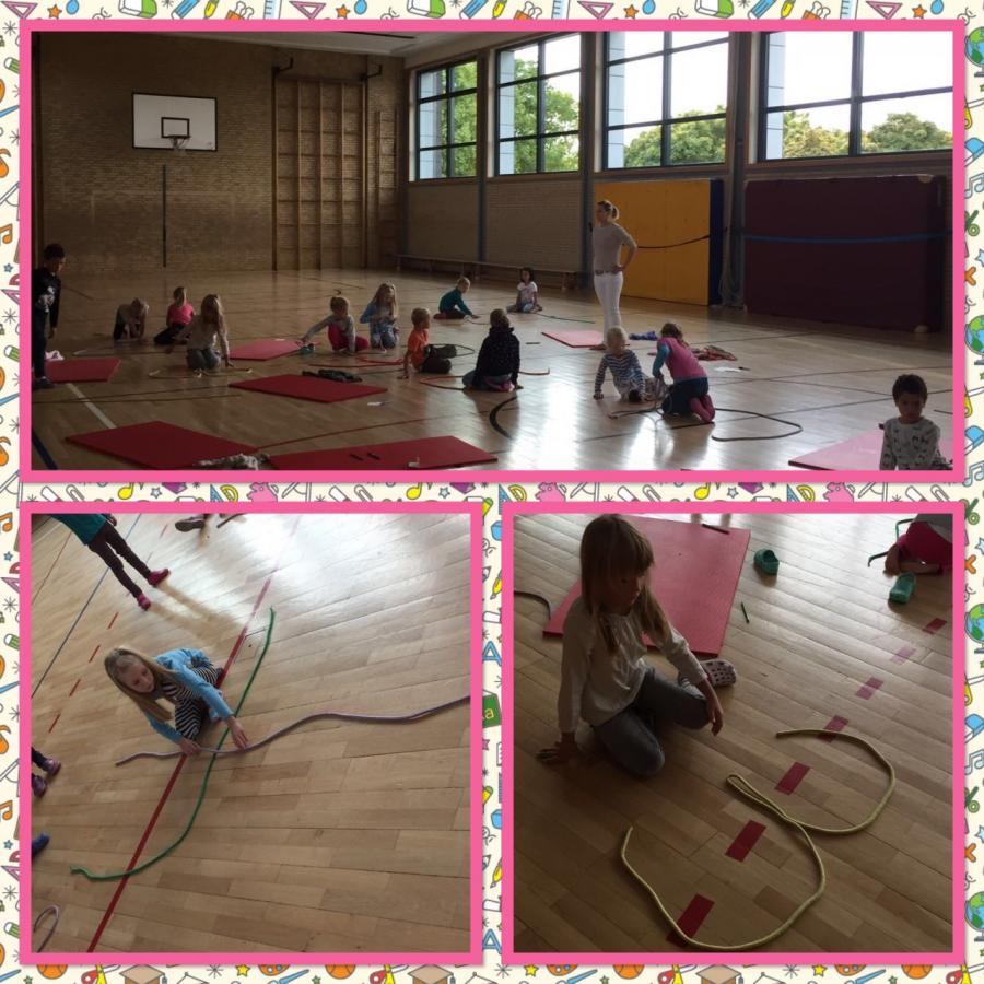 Wir legen die Ziffern mit Seilen