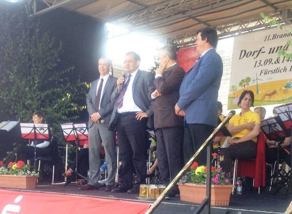 Eröffnung mit Minister