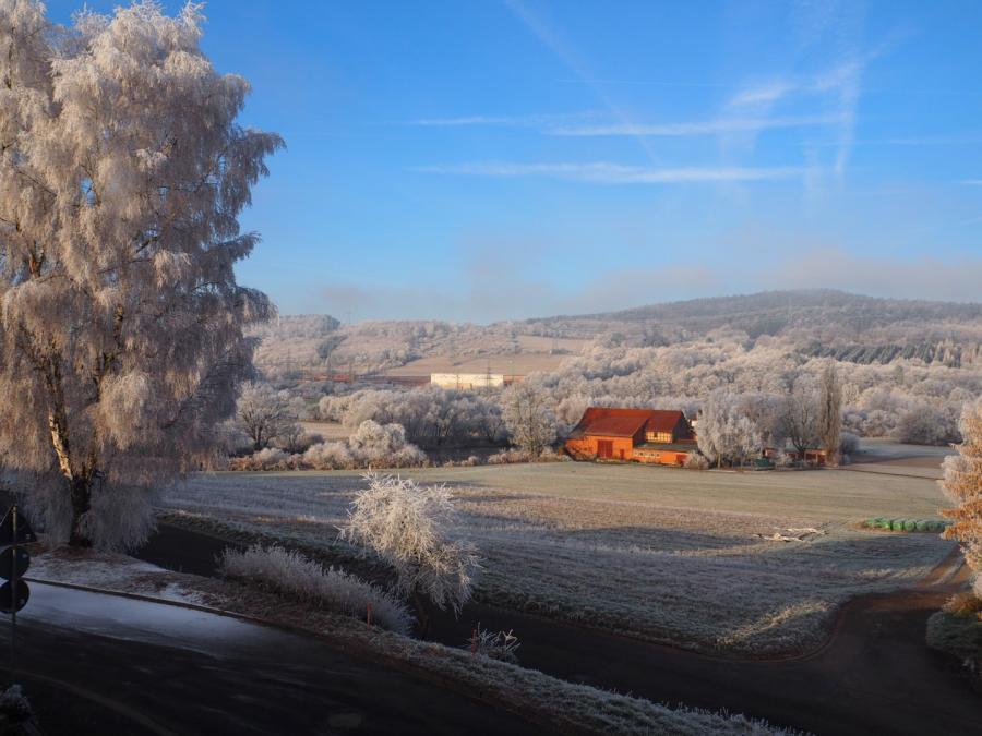 Thomas Baumann Titelbild Winterblick ins Fuldatal