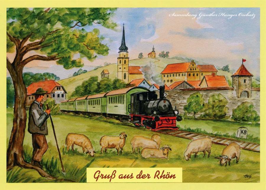 Gruß aus der Rhön Fladungen mit Museumsbahn