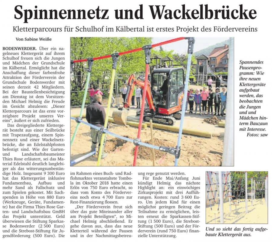 Pressebericht Spielplatz