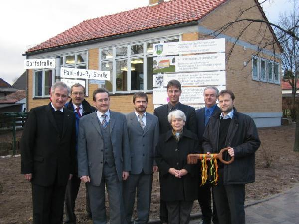 Foto: Einweihung des evangelischen Gemeindehauses in Mariendorf