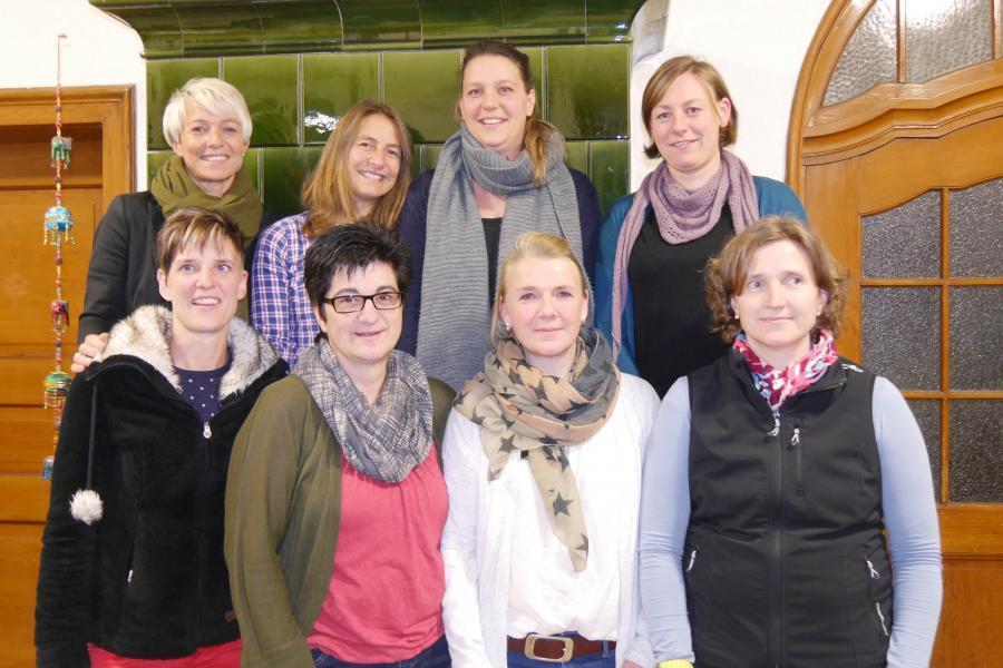 von links: Tanja Schmidt, Anja Plasa, Nina Blatter, Stephanie Drabinski  Unten von links: Petra Keßler, Dagmar Schuler, Katja Frommherz, Simone Dörflinger, nicht auf Foto Melanie Möller