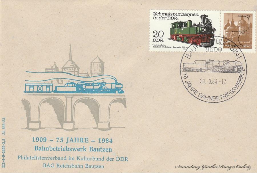1909-1984  75 Jahre Bahnbetriebswerk Bautzen