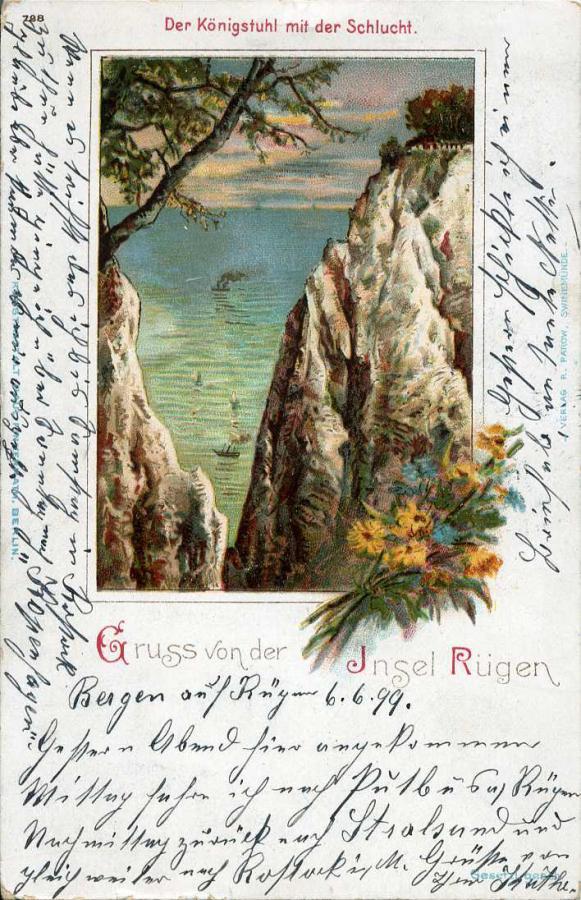 Gruss von der Insel Rügen Der Königsstuhl mit der Schlucht