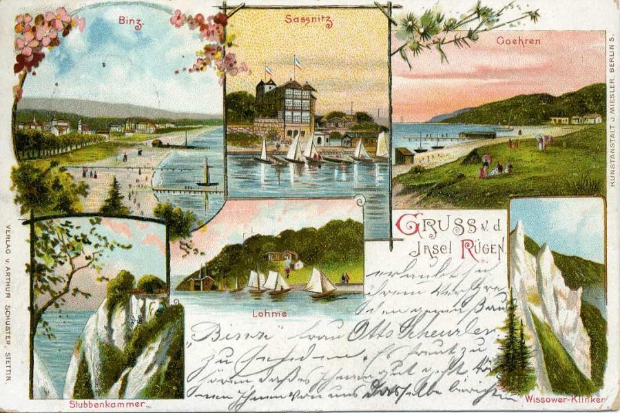 Gruss v. d. Insel Rügen 1897