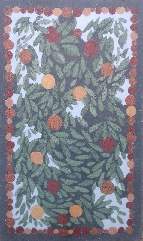 Paneel- Apfelbaum2017 Terrazzo-geschliffen120 x 200 x 1,5 cm