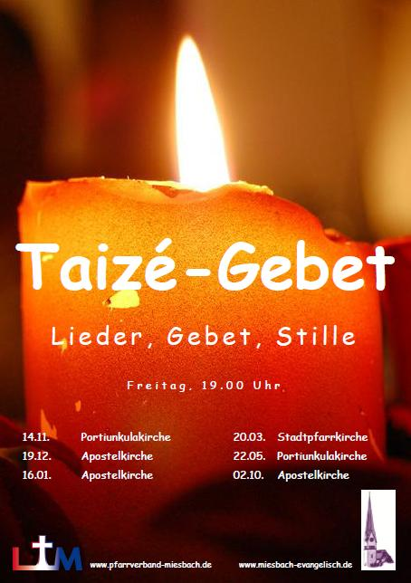 Plakat Taizegebet 2015