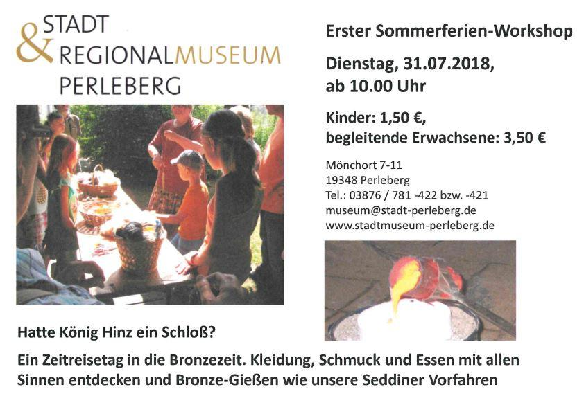 1. Ferien-Workshop für Kinder Sommerferien 2018