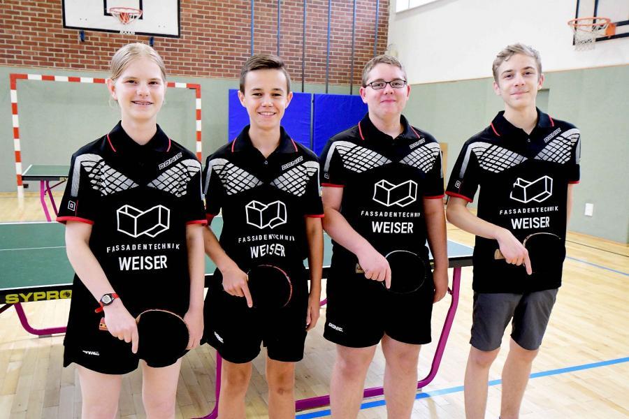 1. Jugendmannschaft mit neuen Trikots in der Bezirksliga