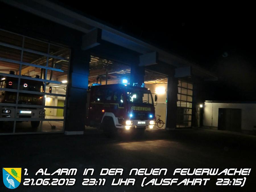 Ausfahrt zum 1. Alarm aus der Neuen Feuerwache