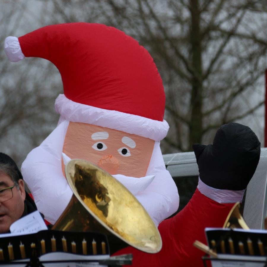 Posaunenchor Kremmen auf dem Weihnachtsmarkt in Kremmen
