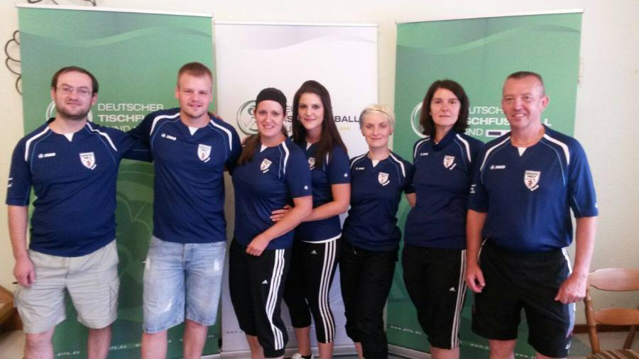 Mannschaft bei der Damenbundesliga 2014