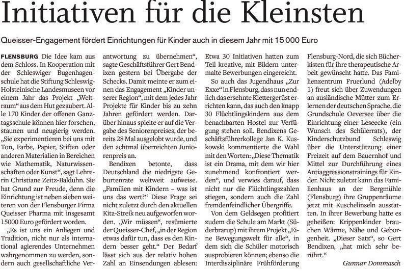 Artikel Flensburger Tageblatt