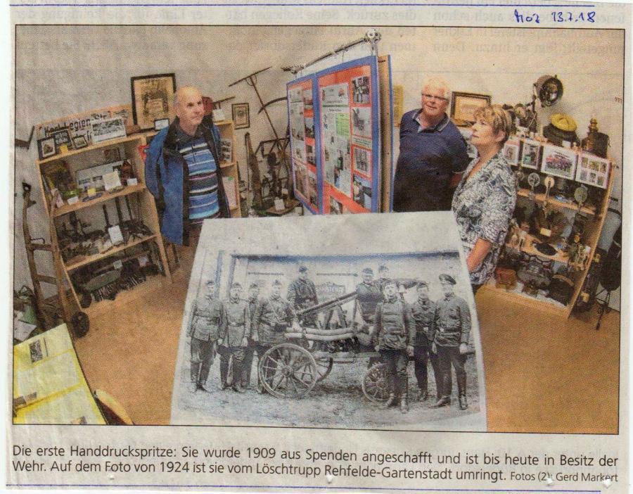 Sonderausstellung 110 Jahre Feuerwehr in Rehfelde (2)