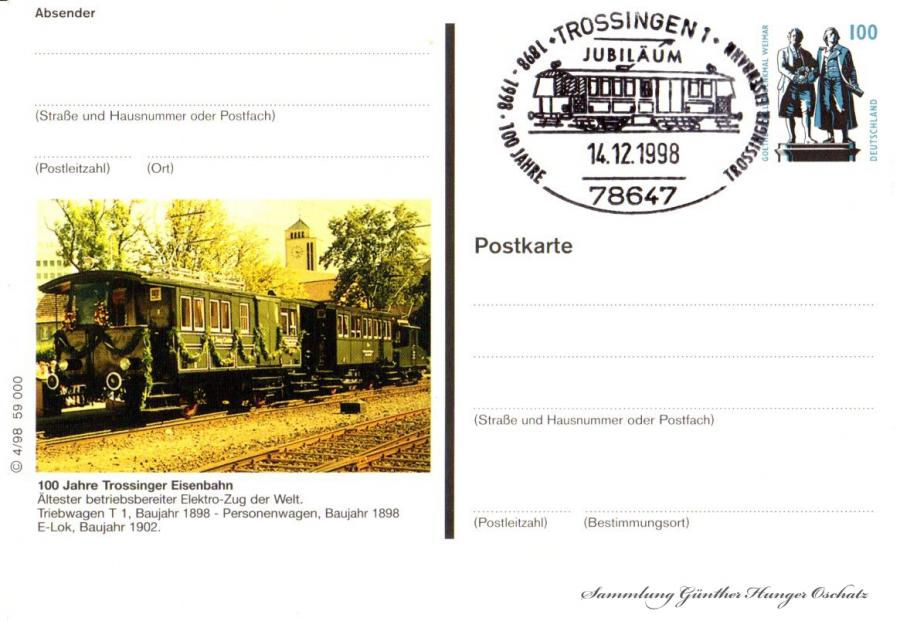 100 Jahre Trossinger Eisenbahn