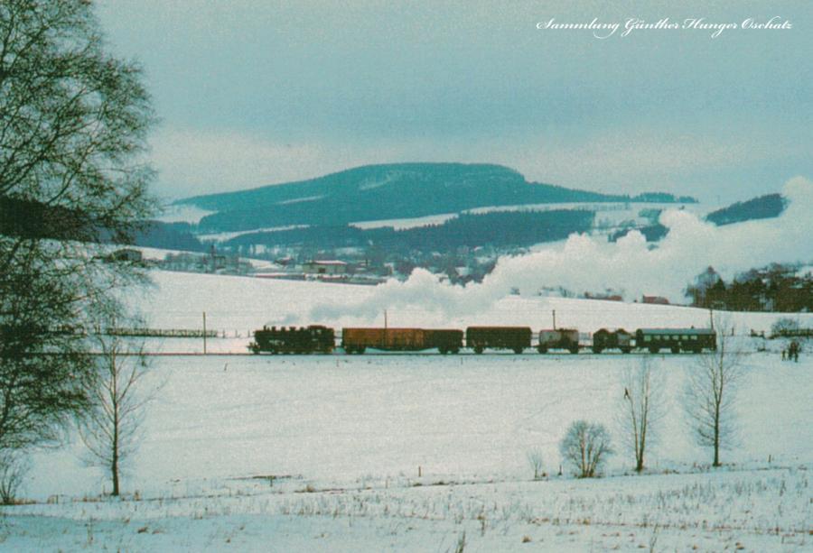Traditionslokomotive 86 1001 mit Gmp zwischen Walthersdorf und Annaberg-Buchholz Süd