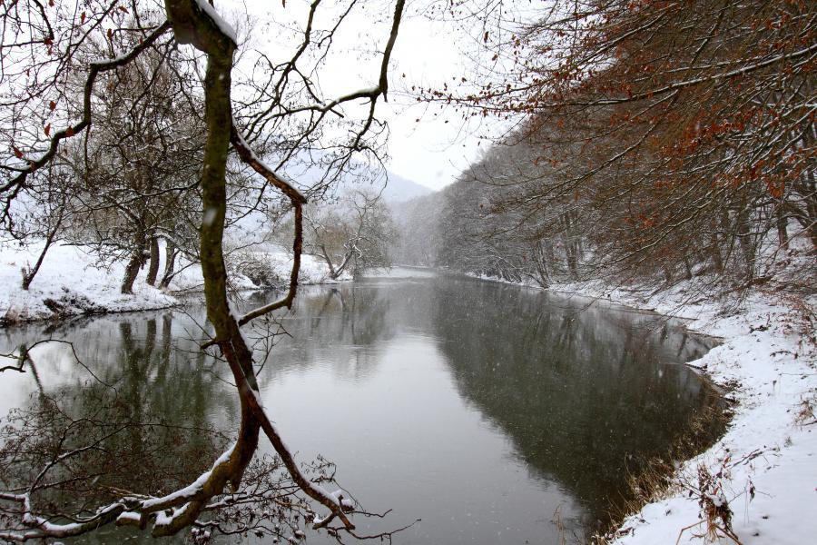 Erste Winterboten an der Fulda