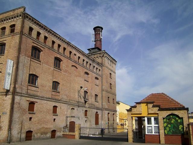 Werkstor der Brauerei in Witnica
