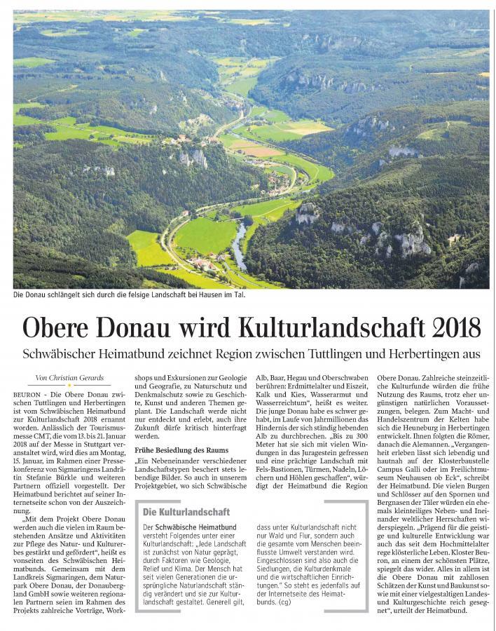 Schwäbische Zeitung 12. Januar 2018
