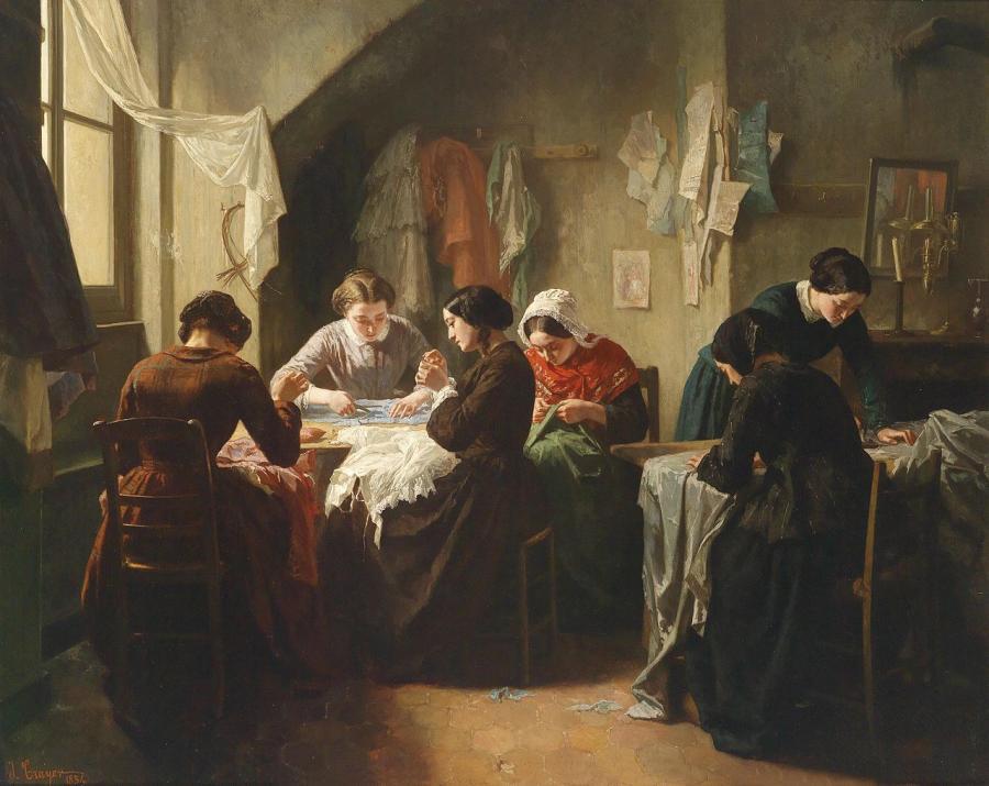 Bretonische Schneiderinnen 1854