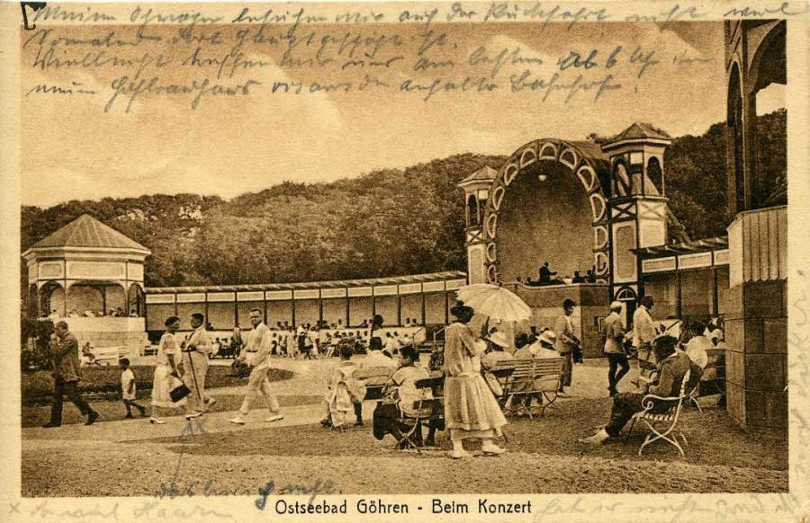 12 Göhren 1926 Beim Konzert