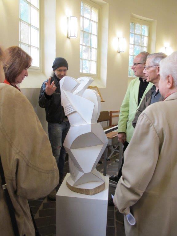 13. Kapellenabend Künstlergespräch Skulpturen zum Thema Abschied 2