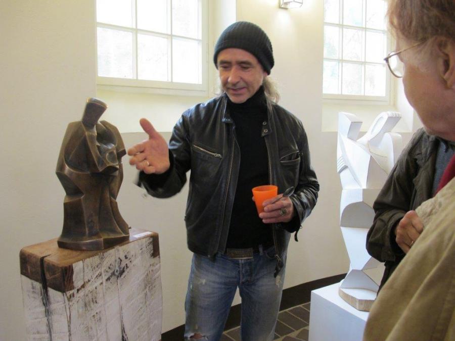 13. Kapellenabend Künstlergespräch Skulpturen zum Thema Abschied 3