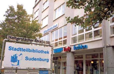 Außenansicht der Stadtteilbibliothek Sudenburg