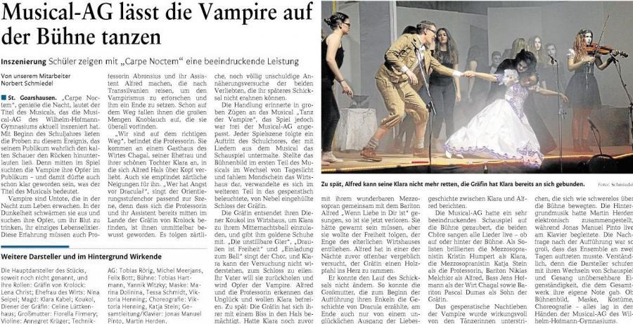 CARPE NOCTEM - Musical am Wilhelm-Hofmann-Gymnasium