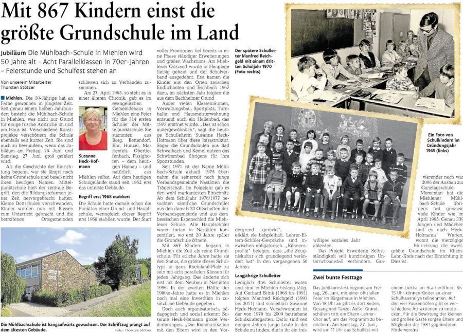50 Jahre Mühlbach-Schule Miehlen