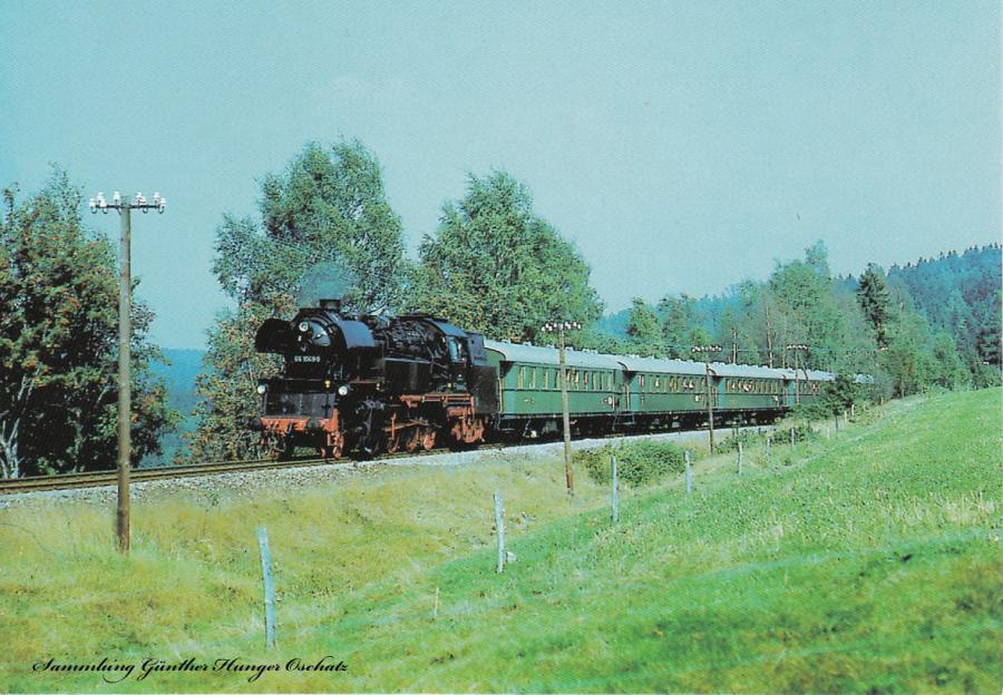 Personenzugtenderdampflokomotive 65 1049 mit DMV-Sonderzug bei Gunzen