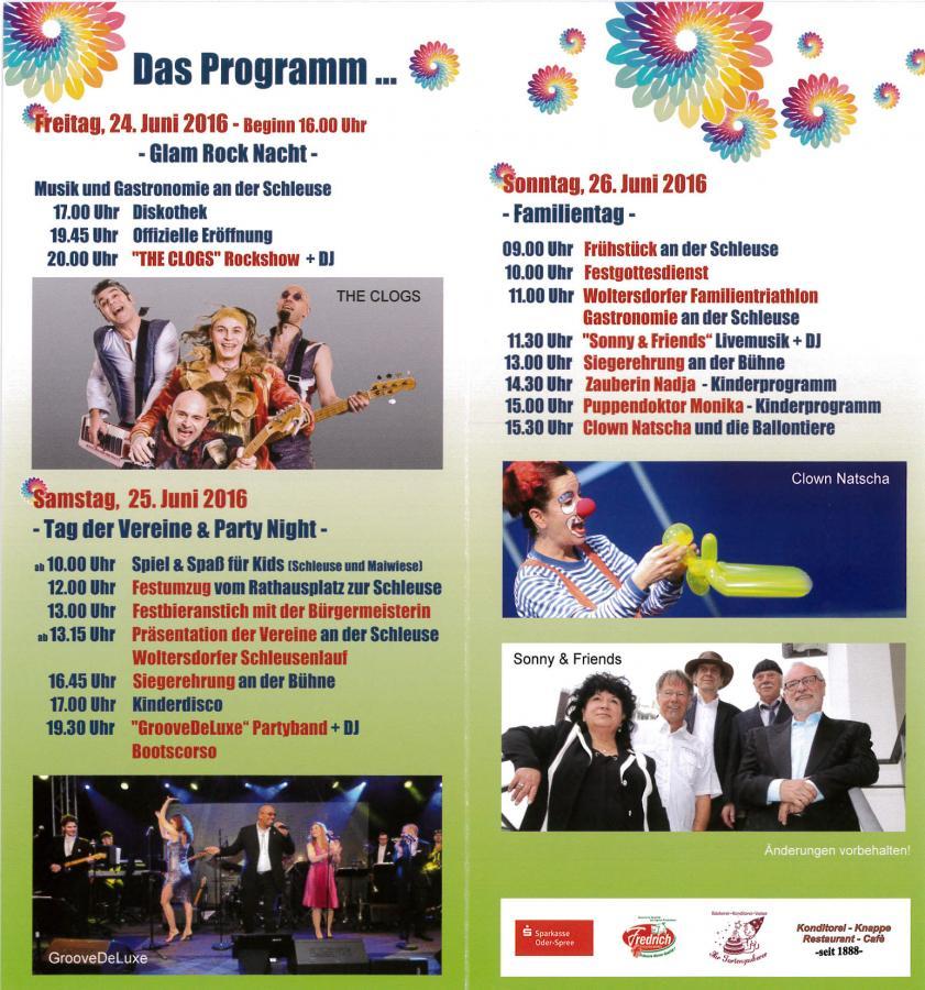 Sommerfest 2016 - Programm