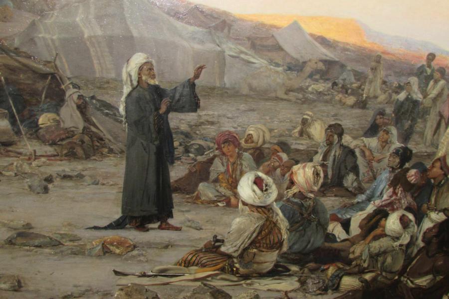 Wilhelm Gentz: Prediger in der Wüste © Museum Neuruppin