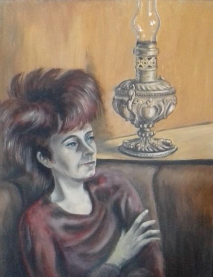 Frau1987 Öl auf Hartfaser70 x 90 cm