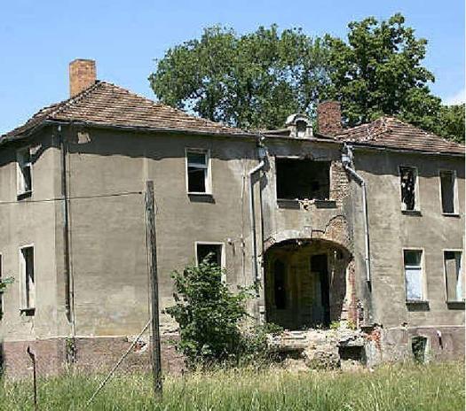 Heute: Das Gulbener Gutshaus ist eine Ruine. Foto: Nocon