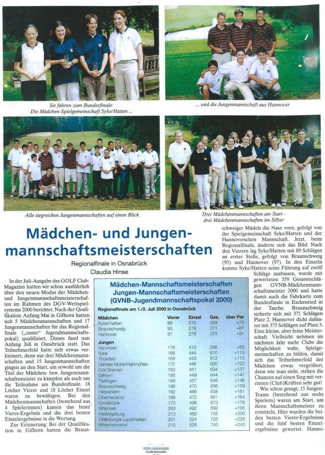 Clubmagazin August 2000