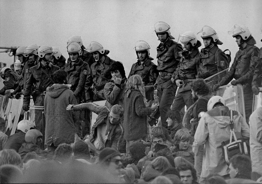 Erste Räumungsaktion Herbst 1980 (Foto: Walter Keber)