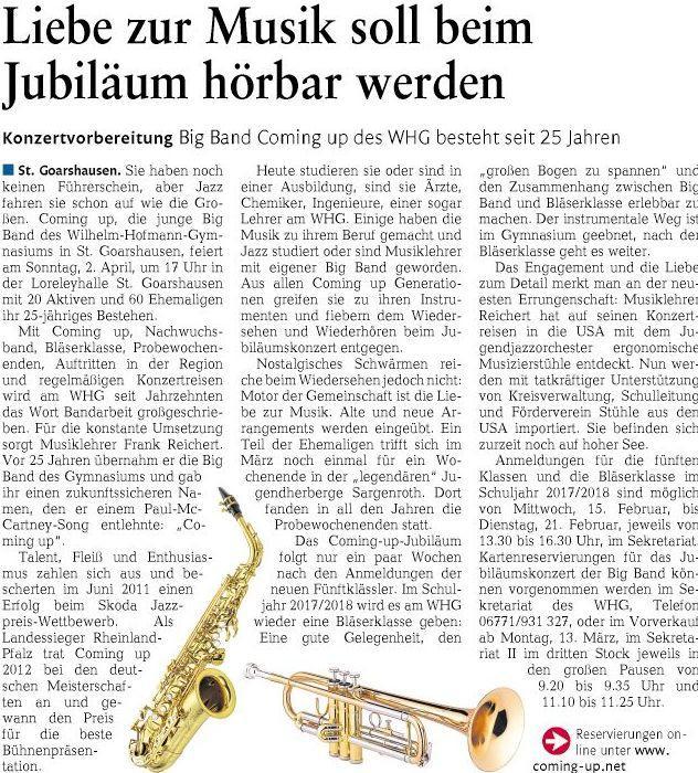 Jubiläumskonzert Big Band