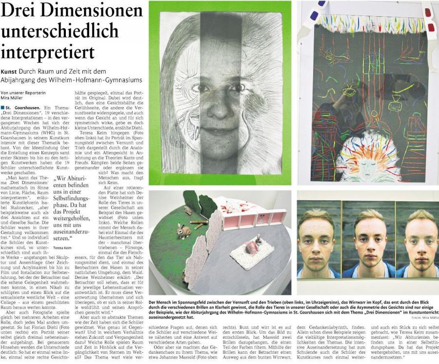 Kunstausstellung Drei Dimensionen
