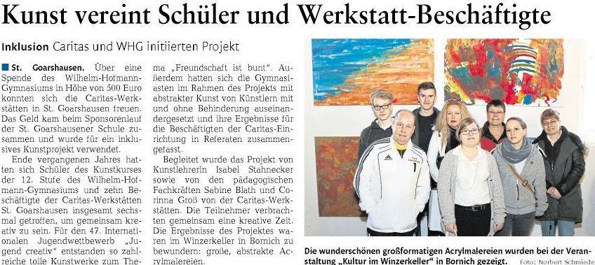 Kunstprojekt mit Caritas-Werkstätten