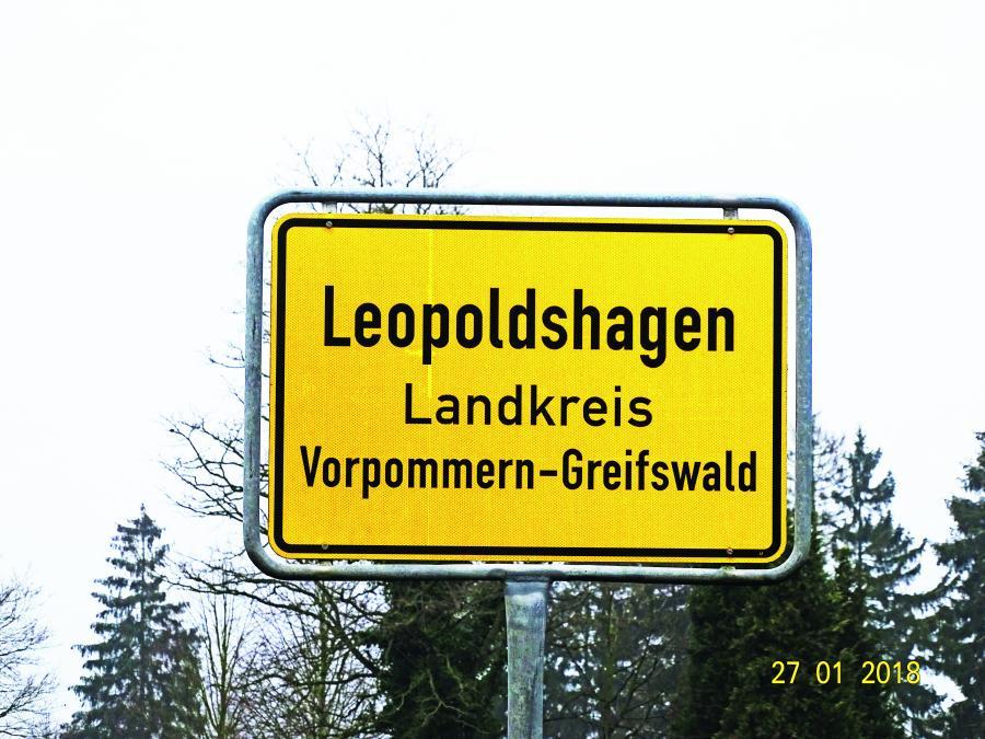 Ortsschild Leopoldshagen