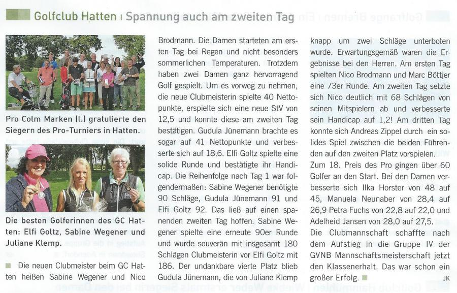 Golfmagazin Weser-Ems Herbst 2014