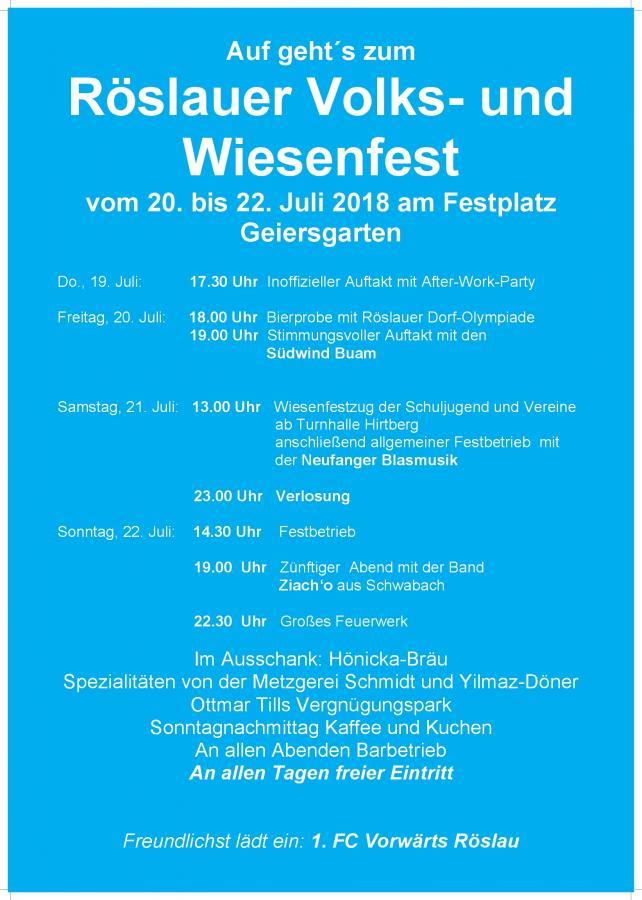 Wiesenfest 2018