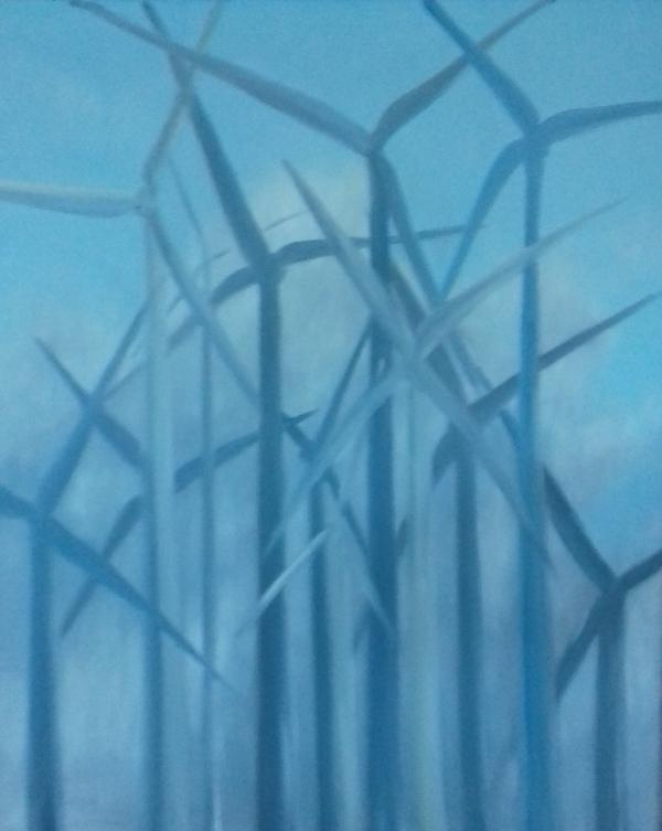 Windkraftwerke2000 Öl auf Leinwand80 x 100 cm