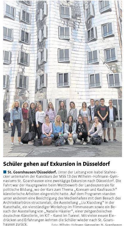 Düsseldorf-Exkursion Kunstkurs MSS 13