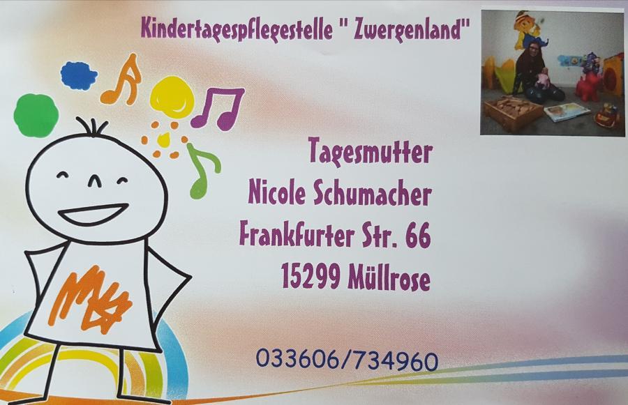 """Kindertagespflegestelle """"Zwergenland"""""""