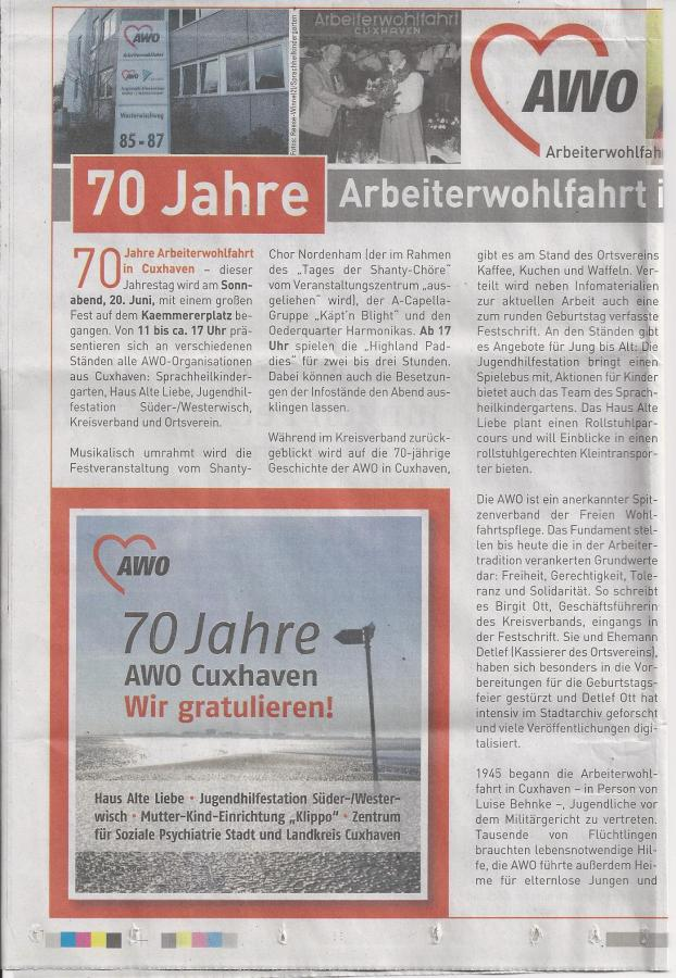 70 Jahre Arbeiterwohlfahrt in Cuxhaven 1